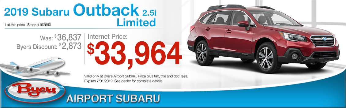 2019 Outback 2.5i Limited Sales Special at Byers Airport Subaru in Columbus, OH