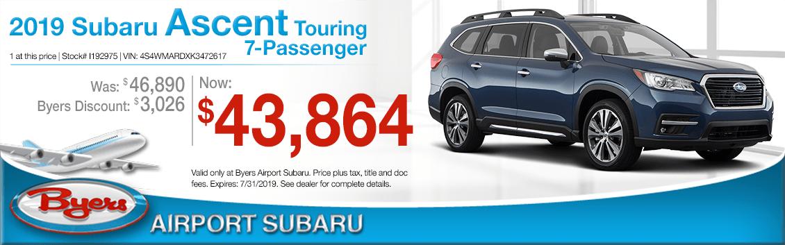 2019 Subaru Ascent Touring 7-Passenger Sales Special in Columbus, OH