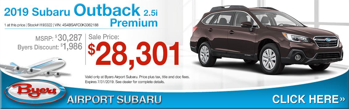 Columbus, OH New Subaru Specials | Byers Airport Subaru