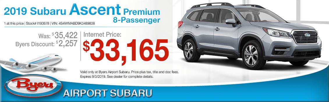 2019 Subaru Ascent Premium 8-Passenger Sales Special in Columbus, OH