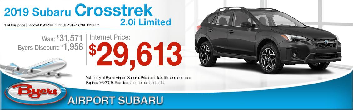 2019 Subaru Crosstrek 2.0i Limited Sales Special in Columbus, OH