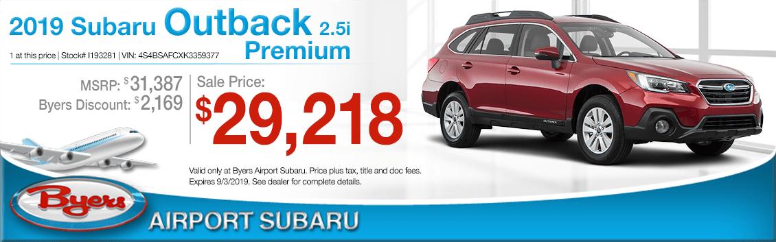 2019 Subaru Outback 2.5i Premium Sales Special in Columbus, OH