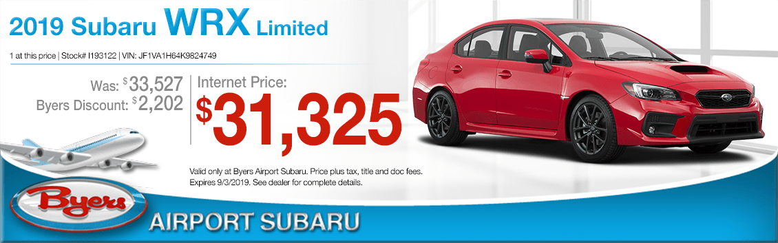 2019 Subaru WRX Limited Sales Special in Columbus, OH
