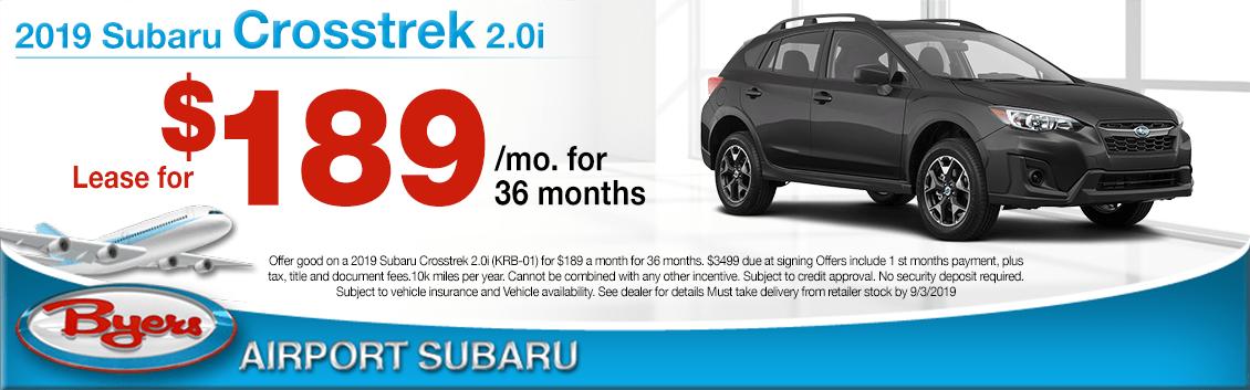 2019 Subaru Crosstrek 2.0i Low Payment Lease Special in Columbus, OH