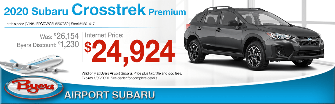 New 2020 Subaru Crosstrek SUV Premium Special at Byers Airport Subaru in Columbus, OH