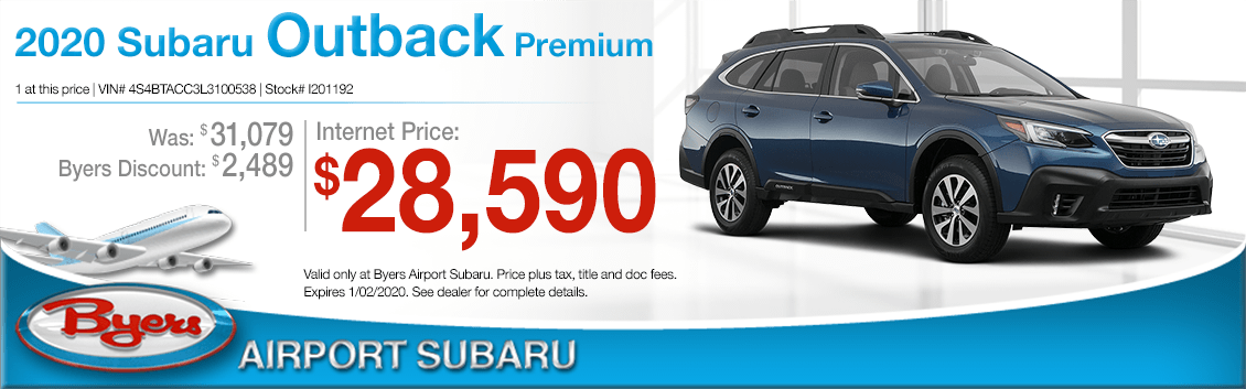 New 2020 Subaru Outback SUV Premium Special at Byers Airport Subaru in Columbus, OH