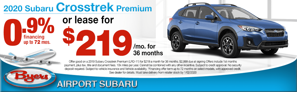 New 2020 Subaru Crosstrek Finance or Lease Special at Byers Airport Subaru in Columbus, OH