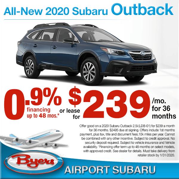 Byers Airport Subaru >> Columbus Oh New Subaru Specials Byers Airport Subaru