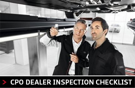 Audi Columbus certified pre-owned inspection checklist