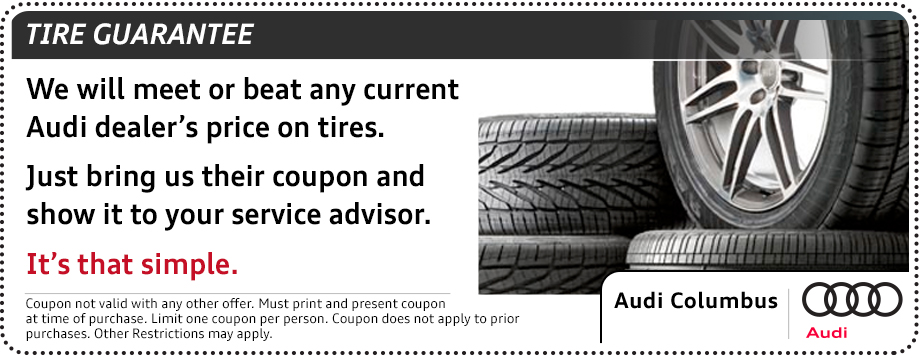 Audi tire guarantee parts special serving Pickerington, OH