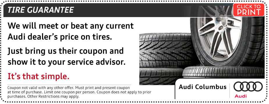 Click to print this Audi tire guarantee parts special serving Pickerington, OH
