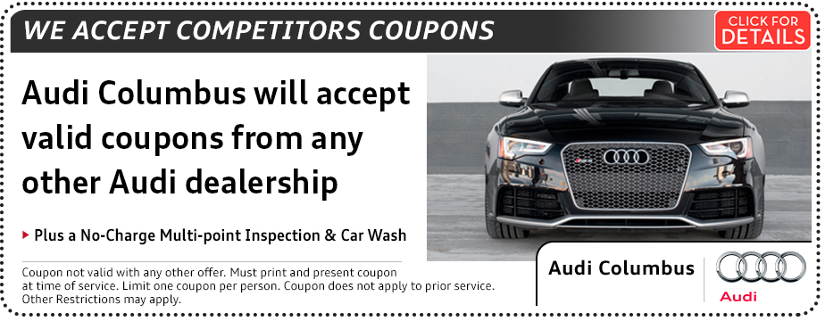 Click to print this Audi Competitor Coupons Special Service Savings in Columbus, OH