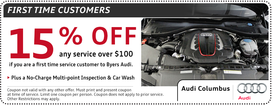 Audi First Time Customers Service Special serving Westerville, OH