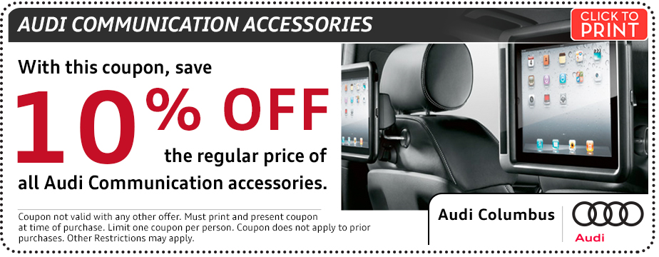 Click to print this Audi Communication Parts Special in Columbus, OH