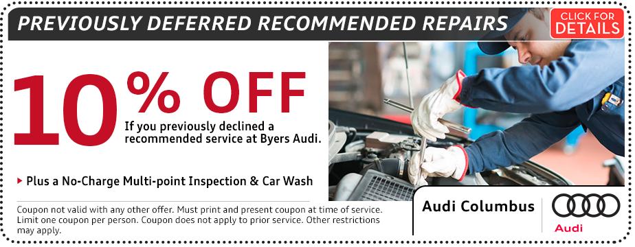 Oil Change Coupons Columbus Ohio >> Columbus Oh Audi Service Repair Specials Audi Columbus
