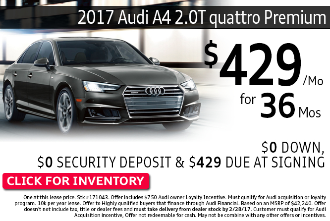 Enjoy Special Savings on this 2017 Audi A4 2.0T quattro Premium during this month's savings in Columbus, OH