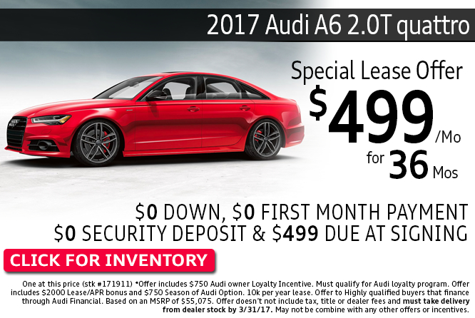 Enjoy Special Lease Savings on a 2017 Audi A6 2.0T Quattro during this month's savings in Columbus, OH