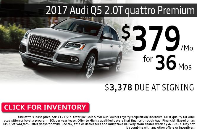 2017 Audi Q5 2.0T quattro Premium Lease Special in Columbus, OH