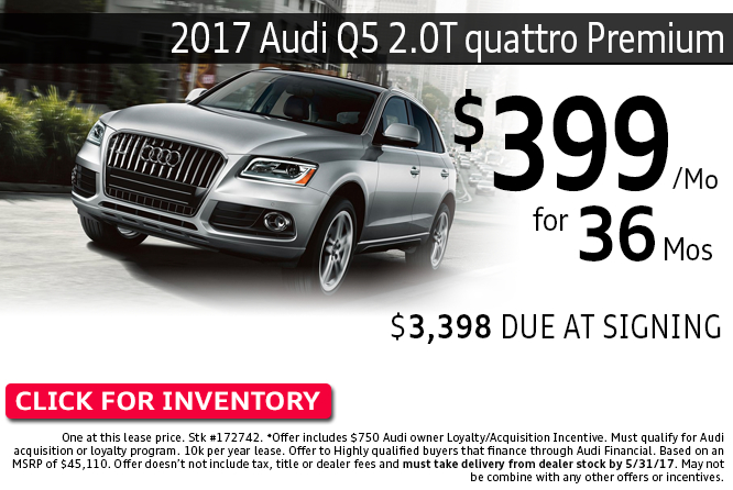Special Lease Offer on a New 2017 Audi Q5 2.0T quattro Premium in Columbus, Ohio