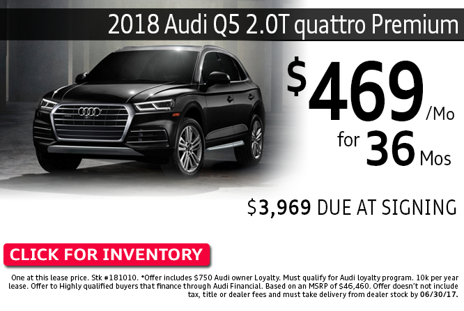 Save with this Columbus, OH special offer on a new 2018 Audi Q5 2.0T quattro Premium