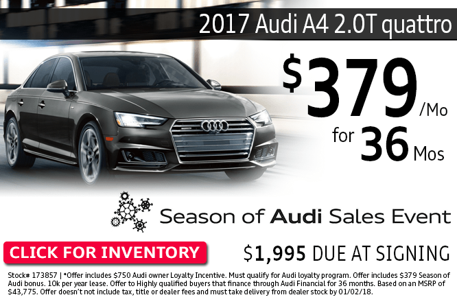 ave with this Columbus, OH special offer on a new 2017 Audi A4 2.0T Quattro