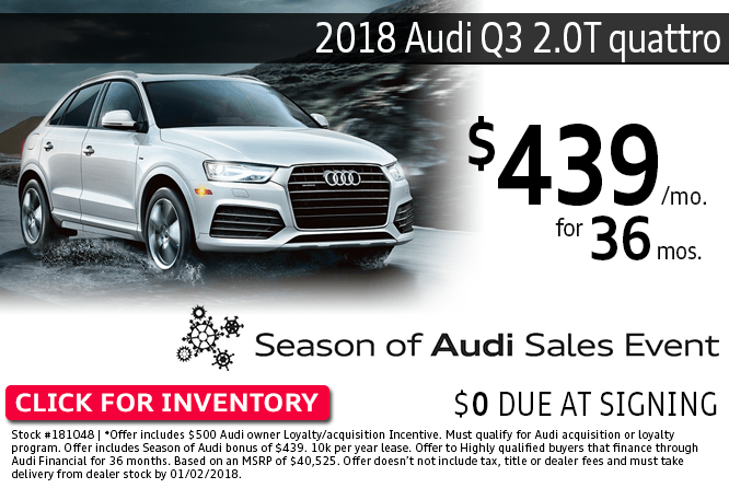 ave with this Columbus, OH special offer on a new 2018 Audi Q3 2.0T quattro