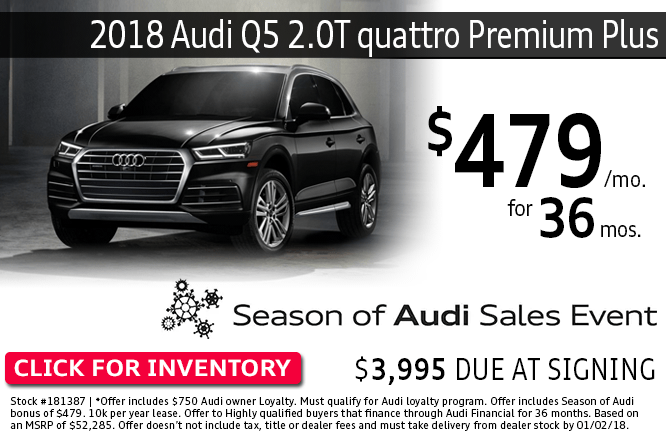ave with this Columbus, OH special offer on a new 2018 Audi Q5 2.0T quattro Premium Plus