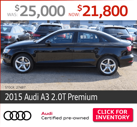 Certified Pre-Owned 2015 Audi A3 2.0T Premium Special in Columbus, OH