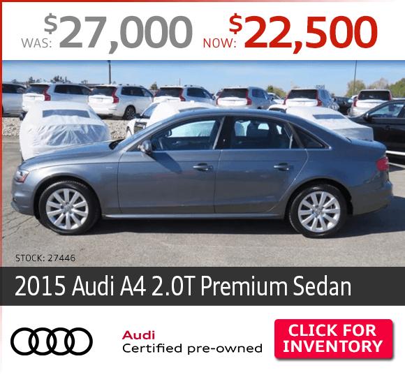 2015 Audi A4 2.0T Premium Sedan Certified Pre-Owned Special in Columbus, OH