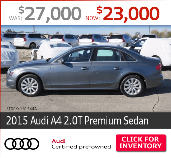 Certified Pre-Owned 2015 Audi A4 2.0T Premium Sedan Special in Columbus, OH