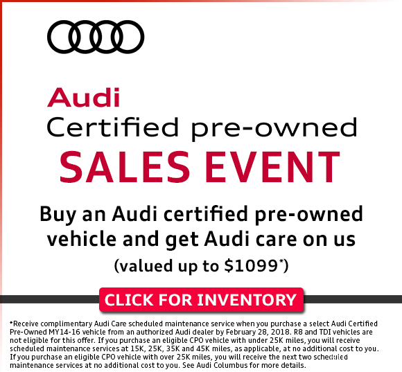 Audi Certified Pre-Owned Sales Event in Columbus, OH