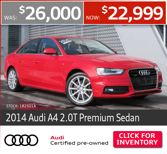 Certified Pre-Owned 2014 Audi A4 2.0T Premium Sedan Special in Columbus, OH