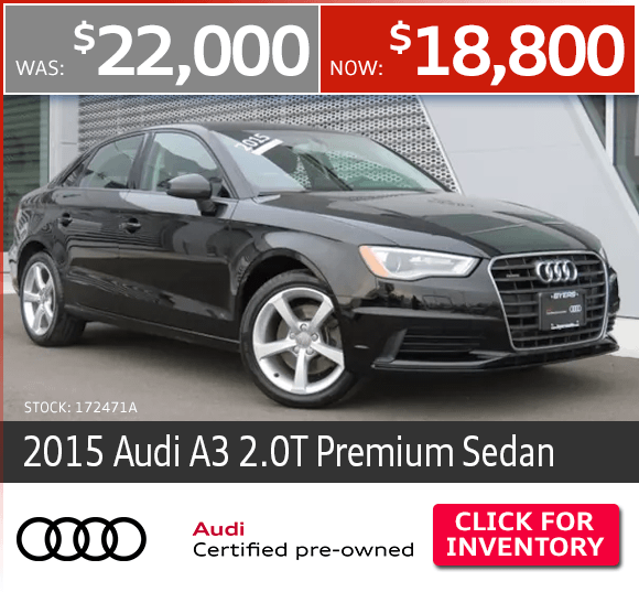 Certified Pre-Owned 2015 Audi A3 2.0T Premium Sedan Special in Columbus, OH