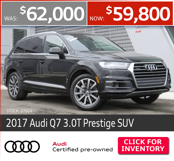 Certified Pre-Owned 2017 Audi Q7 3.0T Prestige SUV Special in Columbus, OH