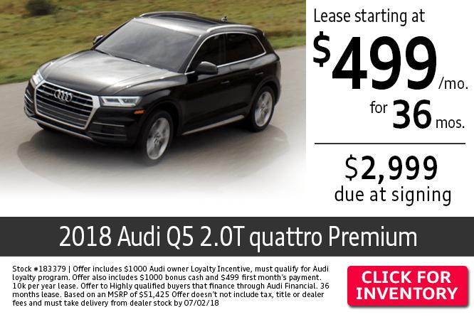 2018 Audi Q5 2.0T Quattro Premium Lease Special in Columbus, OH