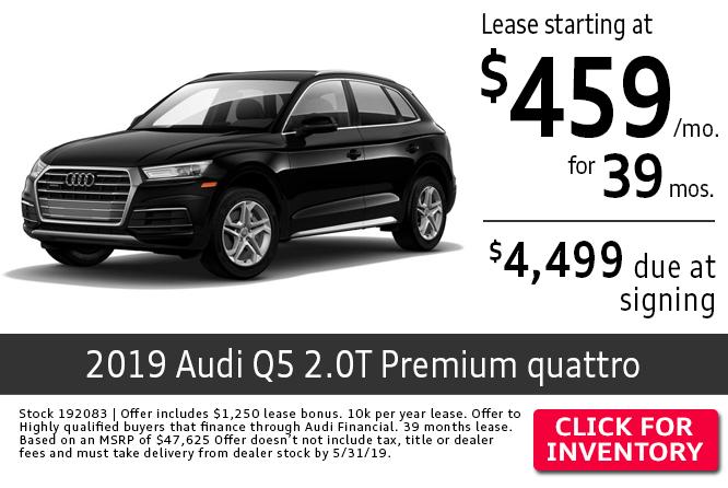 2019 Audi Q5 2.0T Premium quattro Low Payment Lease Special in Columbus, OH