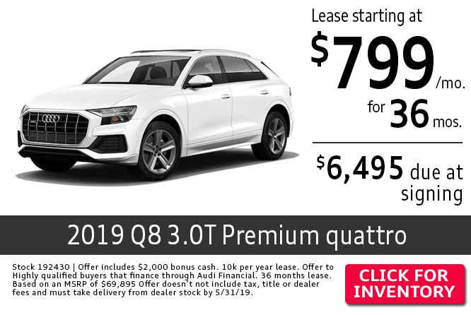 2019 Audi Q8 3.0T Premium quattro Lease Special in Columbus, OH