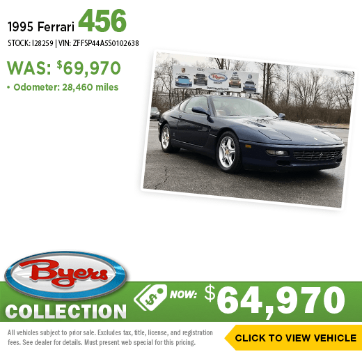 1995 Ferrari 456 Pre-Owned Special at Byers Imports in Columbus, OH