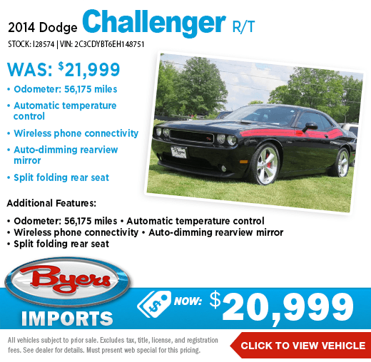 2014 Dodge Challenger R/T Pre-Owned Special at Byers Imports in Columbus, OH