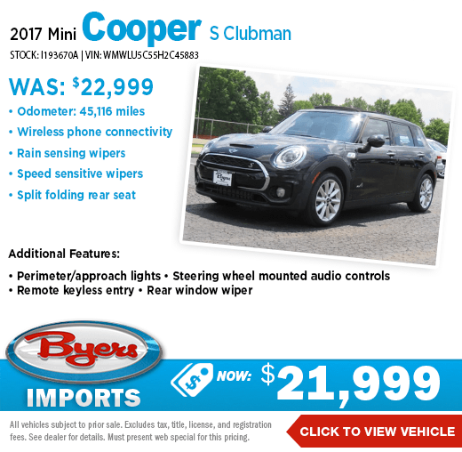 2017 Mini Cooper S Clubman Pre-Owned Special at Byers Imports in Columbus, OH