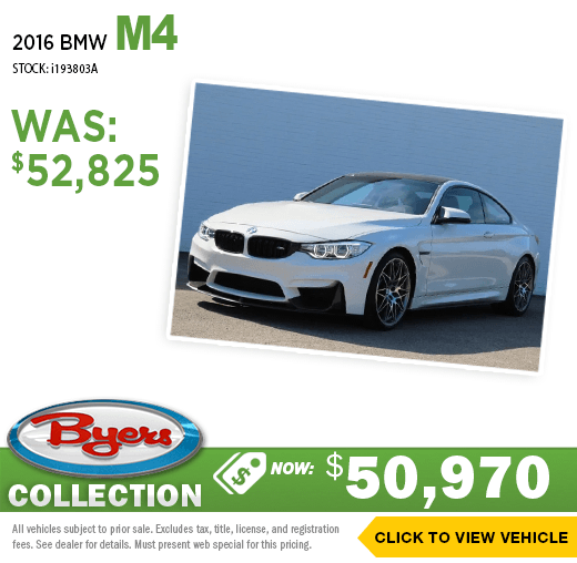 2016 BMW M4 Pre-Owned Special at Byers Imports in Columbus, OH