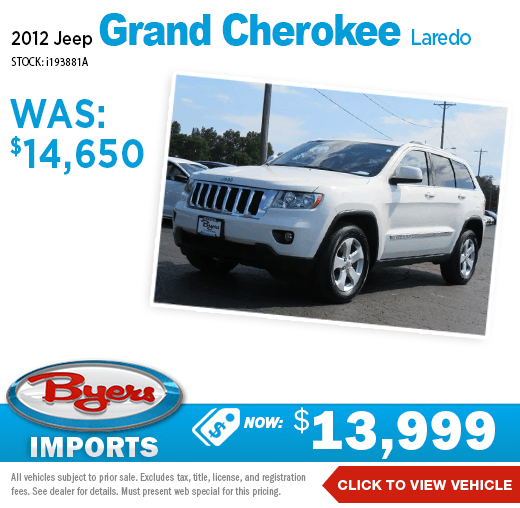 2012 Jeep Grand Cherokee Laredo Pre-Owned Special at Byers Imports in Columbus, OH