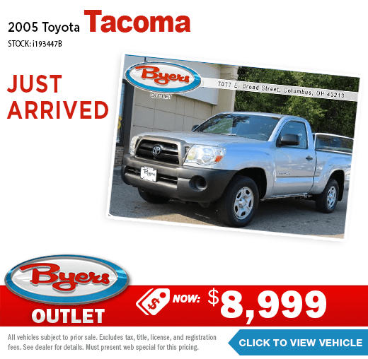 2005 Toyota Tacoma Pre-Owned Special at Byers Imports in Columbus, OH