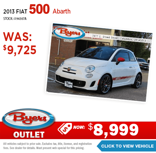 2013 Fiat 500 Abarth Pre-Owned Special at Byers Imports in Columbus, OH