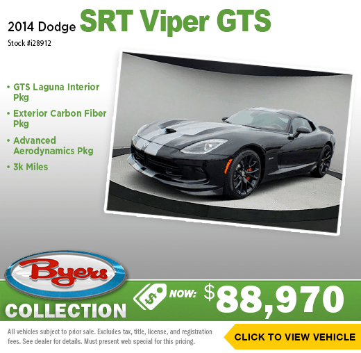 2014 Dodge SRT Viper GTS Pre-Owned Special in Columbus, OH