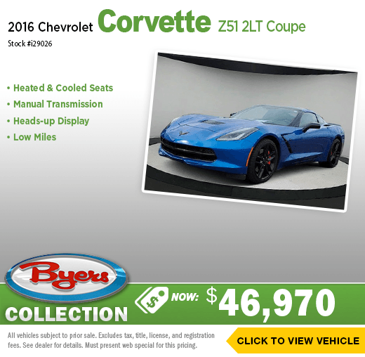 2016 Chevy Corvette Pre-Owned Special in Columbus, OH