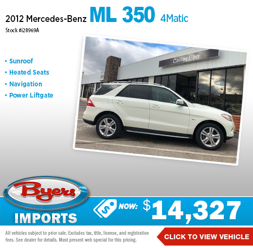 2012 Mercedes-Benz ML 350 4Matic Pre-Owned Special in Columbus, OH
