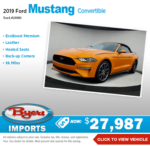 2019 Ford Mustang Convertible Pre-Owned Special in Columbus, OH