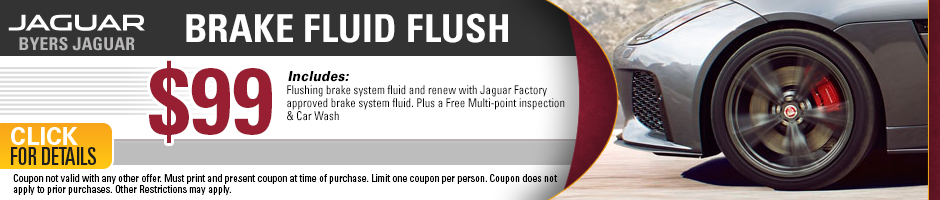Click to view our Jaguar brake fluid flush service special in Columbus, OH