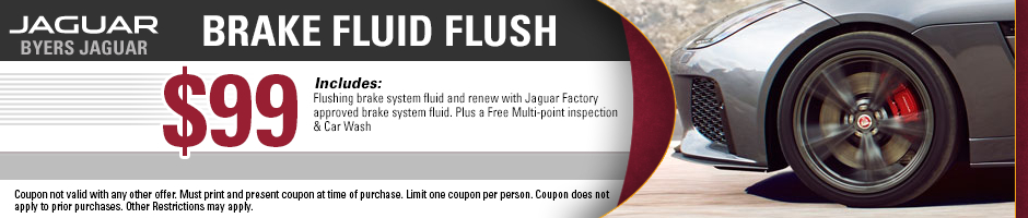Jaguar brake fluid flush service special in Columbus, OH